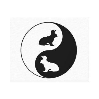 Lienzo Conejos de Yin Yang