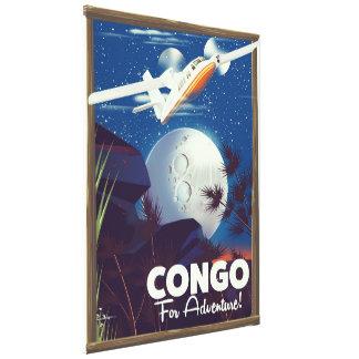 Lienzo ¡Congo para la aventura! poster del viaje