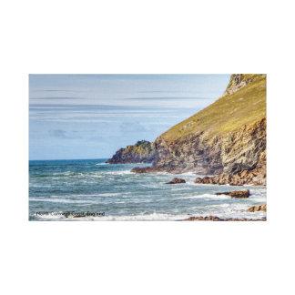 Lienzo Costa del norte de Cornualles, Inglaterra