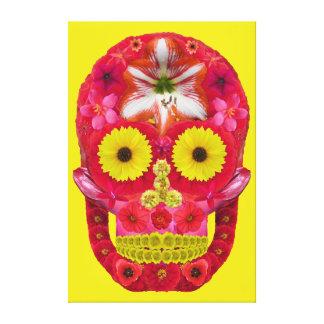 Lienzo Cráneo 6 de la flor