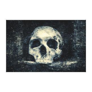 Lienzo Cráneo del horror de Halloween
