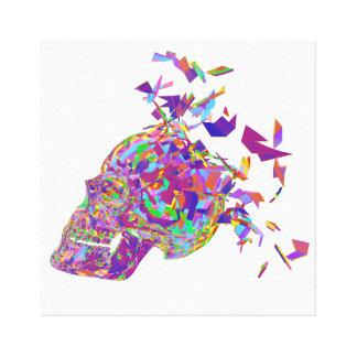 Lienzo Cráneo del polígono del extracto de la explosión