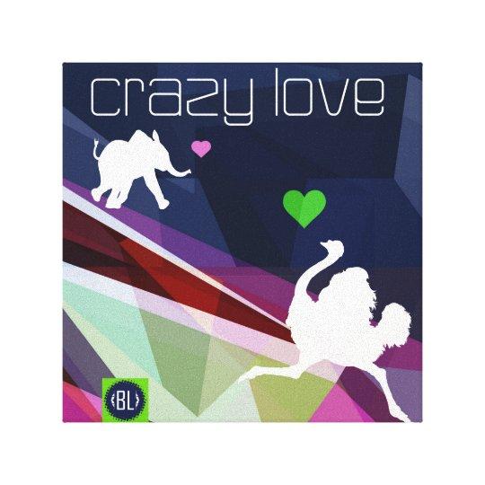 Lienzo crazy love. Valentine's series