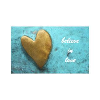 Lienzo Crea en lona del amor