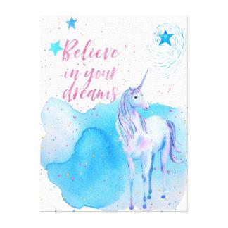 Lienzo Crea en su unicornio de los sueños