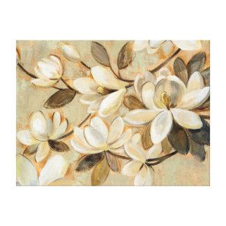 Lienzo Crema de la simplicidad de la magnolia