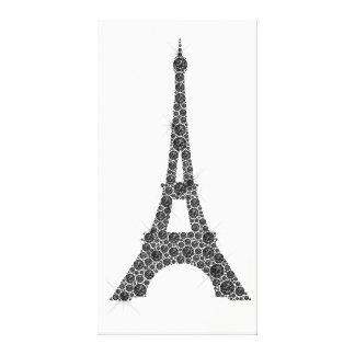 Lienzo Cristal blanco negro de París del francés de la