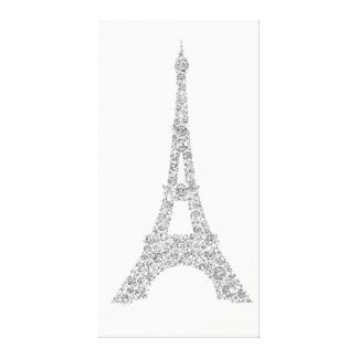 Lienzo Cristal de los gris plateados de París del francés