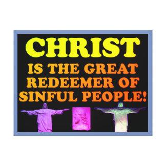 Lienzo ¡Cristo es el gran redentor de la gente pecadora!