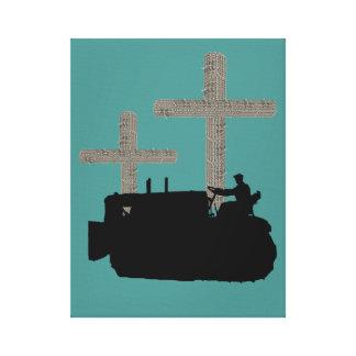 Lienzo Cruz de funcionamiento del cristiano del ingeniero