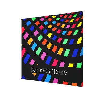 Lienzo Cuadrados geométricos coloridos con el nombre