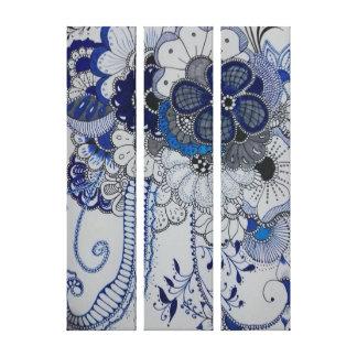 Lienzo cuadro de flores azules