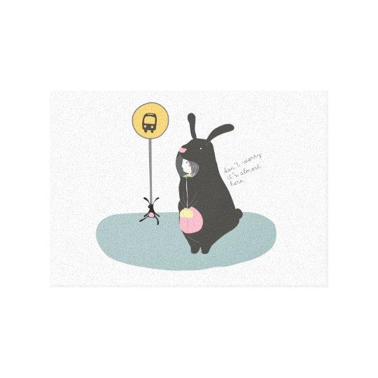 Lienzo Cuadro de Niña disfrazada de Conejo