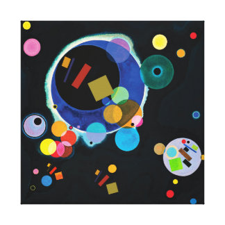 Lienzo Cuando Kazimir Malevich resuelve Wassily Kandinsky