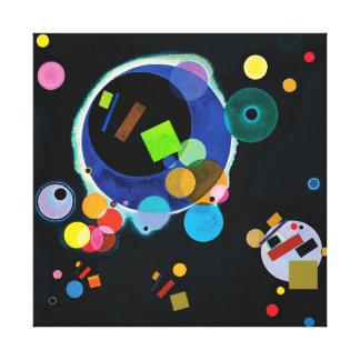Lienzo Cuando Wassily Kandinsky resuelve Kazimir Malevich