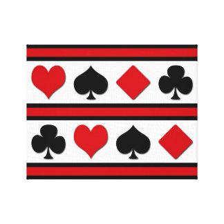 Lienzo Cuatro juegos de la tarjeta