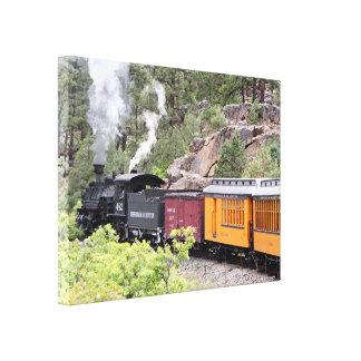 Lienzo Cueza el motor del tren al vapor, Colorado, los