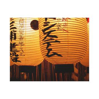 Lienzo De farolillo japonés