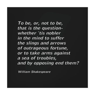 Lienzo ` De Hamlet del ` del ` s de William Shakespeare