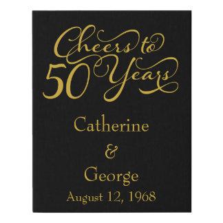 Lienzo De Imitación 50.o aniversario de boda de oro personalizado