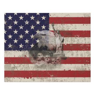 Lienzo De Imitación Bandera y símbolos de Estados Unidos ID155