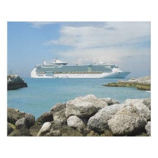 Lienzo De Imitación Barco de cruceros de CocoCay
