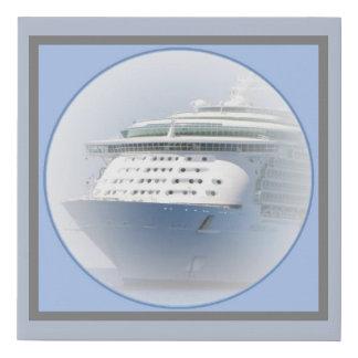 Lienzo De Imitación Camafeo del barco de cruceros