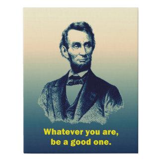 Lienzo De Imitación Cita de Abraham Lincoln