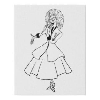 Lienzo De Imitación ¡Doris estimado en usted paredes!