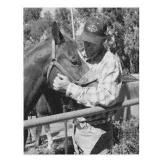 Lienzo De Imitación El enlace entre un hombre y su caballo