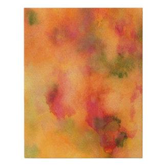 Lienzo De Imitación El otoño corre la acuarela abstracta en naranja
