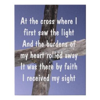 Lienzo De Imitación En la cruz