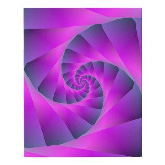 Lienzo De Imitación Espiral rosado y azul
