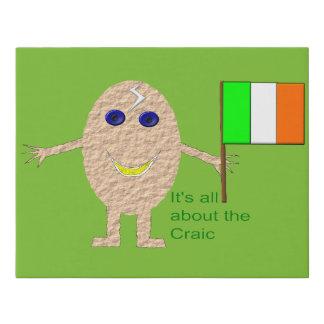 Lienzo De Imitación Falsa lona del huevo irlandés patriótico