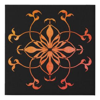 Lienzo De Imitación Flor geométrica del caleidoscopio en colores del