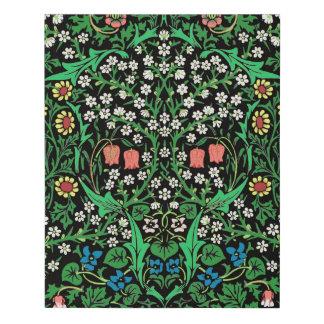 Lienzo De Imitación Fondo floral de William Morris, negro jacobeo
