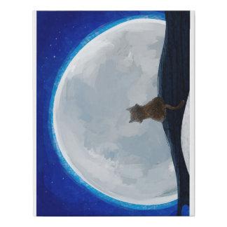 Lienzo De Imitación Gato de la luna azul