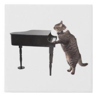 Lienzo De Imitación Gato que juega el piano