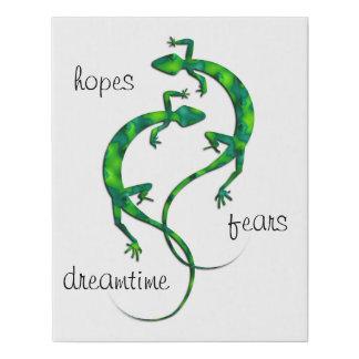 Lienzo De Imitación Geckos