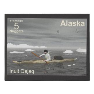 Lienzo De Imitación Kajak del Inuit - franqueo de Alaska