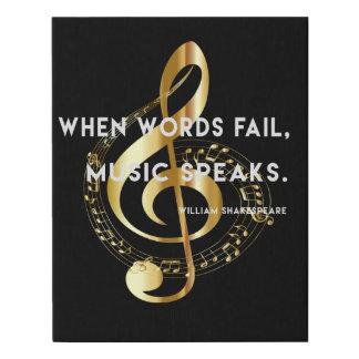 Lienzo De Imitación La música habla cuando las palabras fallan