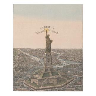 Lienzo De Imitación Libertad que aclara el mundo - estatua de la