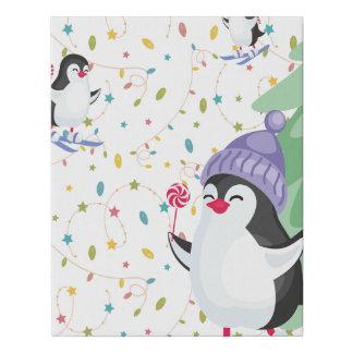Lienzo De Imitación Locura del pingüino