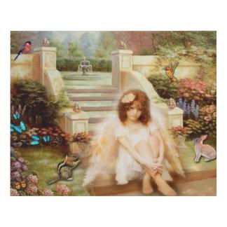 Lienzo De Imitación Lona angelical del jardín de la serenidad