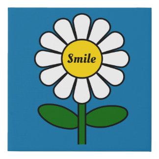 Lienzo De Imitación Lona de la margarita de la sonrisa