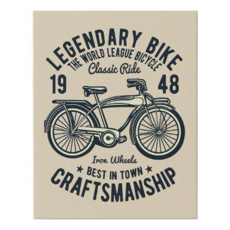 Lienzo De Imitación Lona legendaria de la bici