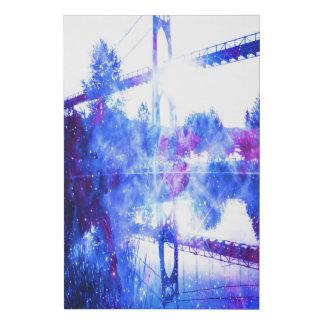 Lienzo De Imitación Los sueños del amante de un puente a dondequiera