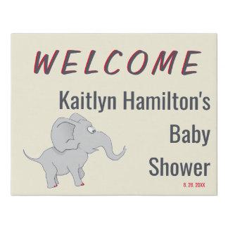Lienzo De Imitación Mamá de la fiesta de bienvenida al bebé linda del
