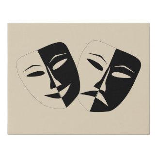 Lienzo De Imitación Máscaras de la comedia y de la tragedia