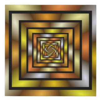Lienzo De Imitación Modelo gráfico colorido del fractal del túnel